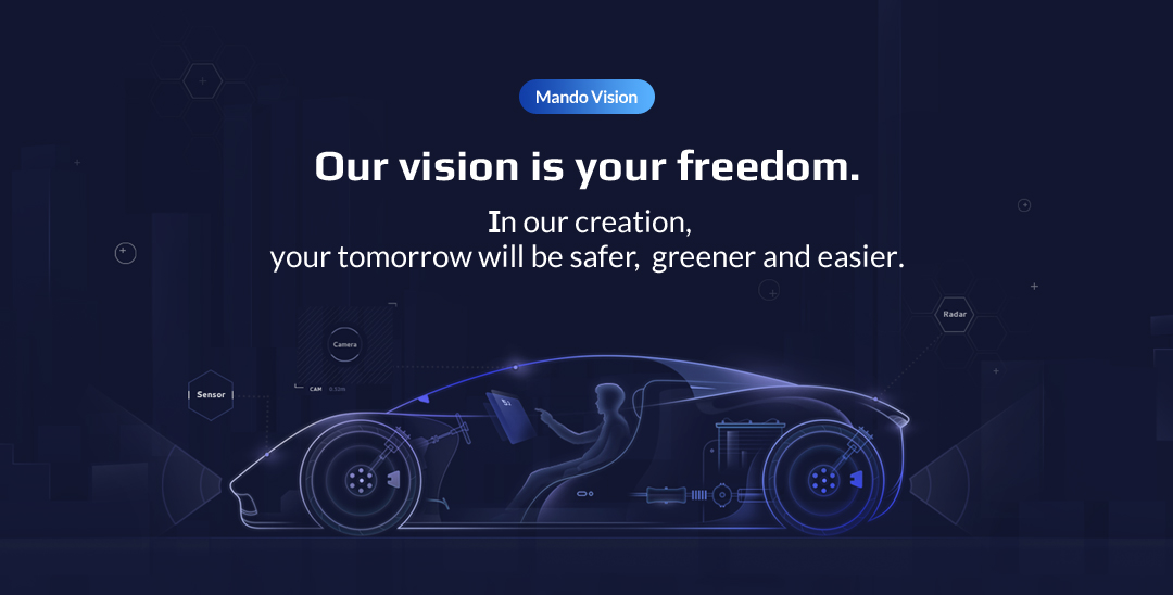 Our vision is your freedom In our creation, your tomorrow will be safer,  greener and easier